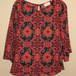 Anthropologie Everly Paisley Print Blouse/Top